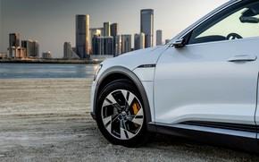 Picture white, Audi, wheel, E-Tron, 2019
