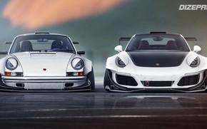 Picture Auto, White, 911, Porsche, Machine, Porsche 911, Rendering, Sports car, Two, Dmitry Strukov, Dizepro, by …