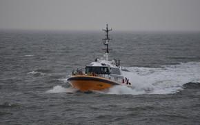 Picture sea, boat, the pilot