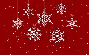 Picture winter, snowflakes, red, background, red, Christmas, winter, background, snowflakes