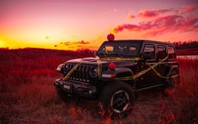 Picture sunset, Halloween, jeep, jeep wrangler rubicion
