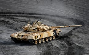 Picture polygon, T-90S, Russian battle tank