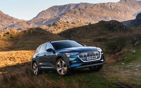 Picture Audi, E-Tron, the mountainous terrain, 2019, UK version