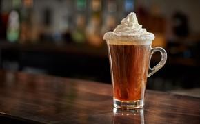 Picture glass, coffee, cream