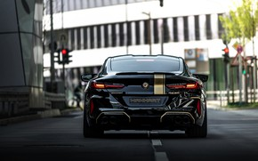 Picture black, tuning, coupe, BMW, back, Manhart, 2020, BMW M8, 4.4 L., two-door, V8 Biturbo, M8, …