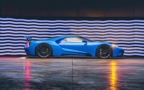Picture Ford, supercar, Ford GT, side view, 2017, H040, Riviera Blue