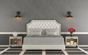 Picture bed, interior, bedroom, modern, bedroom
