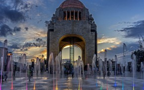 Picture Mexico, The Monument To The Revolution, Mexico city, fountain, Independence Day