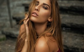 Picture look, girl, face, sexy, hair, beauty, Wojtek Pruchnicki, Isabell Schuck