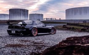 Picture Auto, Black, Machine, Mazda, Auto, Black, Machine, RX-7, Transport, Mazda RX-7, Transport, Transport & Vehicles, …