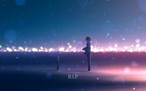 Picture snow, Cross, guy, R.I.P