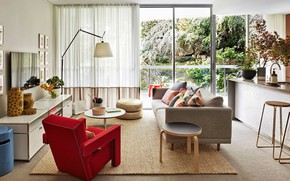 Picture style, interior, chair, sofa, living room, mid-century modern