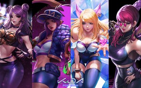 Picture Akali, Ahri, Evelynn, League Of Legends, Kai'Sa