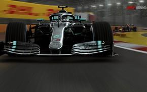 Picture track, racing car, F1 2019, Mercedes AMG F1 W10 EQ Power+