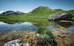 Picture mountains, lake, photo, Italy, Passo Falzarego