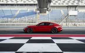 Picture red, Porsche, tribune, 2018, Panamera GTS