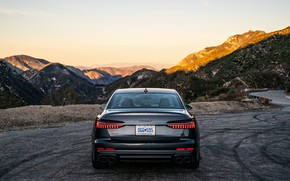 Picture Audi, sedan, rear view, Audi A6, 2020, Audi S6, US-version