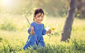 Picture flower, summer, girl