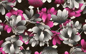 Picture flowers, background, texture, pattern