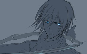 Picture look, art, God, A Homeless God, Noragami, Yato