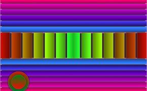 Picture circles, strip, gradient