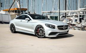 Picture Mercedes-Benz, Auto, Pier, Yachts, Machine, Grey, Day, Mast, Mercedes, Car, Render, Design, AMG, Silver, Sebastian …