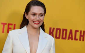 Picture look, pose, smile, actress, smile, hair, look, pose, actress, Elizabeth Olsen, Elizabeth Olsen