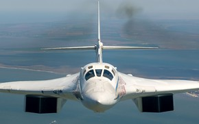 Picture The Tu-160, strategic bomber-missile carrier, supersonic, Tupolev, Крыло изменяемой стреловидности