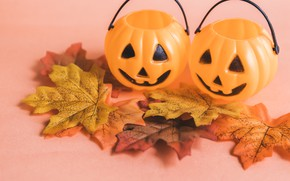 Picture autumn, leaves, Pumpkin, Holiday, Heluin