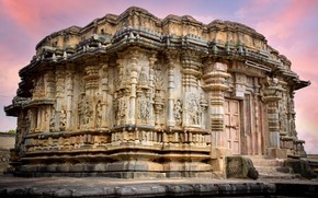 Picture architecture, ancient, india, temple, monument, karnataka