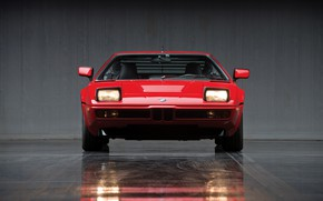 Picture light, red, lights, BMW, front view, BMW M1, E26, M1