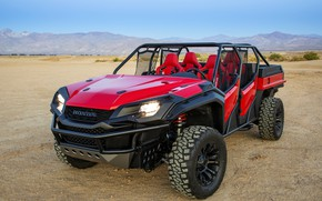 Picture mountains, Honda, 2018, Rugged Open Air Vehicle Concept
