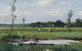 Picture landscape, picture, Johan Hendrik Weissenbruch, Behind the Dunes, Johan Hendrik Weissenbruch
