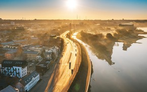 Picture fog, morning, Lithuania, Kaunas