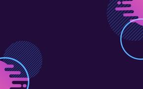 Picture purple, circles, flat, minimalism, hatch, Sarmatia