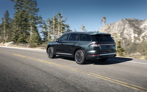 Picture road, Lincoln, rear view, Aviator, 2020