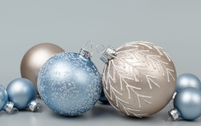 Picture winter, balls, holiday, balls, blue, Christmas, New year, light background, Christmas decorations, Christmas decorations, Christmas …