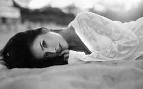 Picture black & white, girl, photo, photographer, monochrome, model, lips, brunette, b&w, portrait, mouth, close up, …