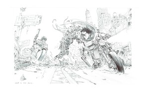 Picture weapons, futuristic, Sketch, Kim Jung Gi, persecution