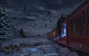 Picture Fantasy, Art, Hogwarts Express, Harry Potter, Concept Art, Dementors, Dementor, The Dementors, Josh Hutchinson, by …