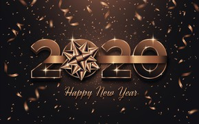 Picture holiday, New year, decoration, postcard, 2020, Confetti, new-year-2020