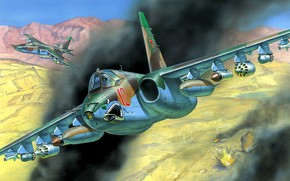 Picture USSR, Su-25, Soviet Air Force, Soviet Attack Aircraft