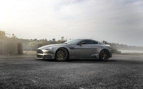 Picture Aston Martin, Road, Wheel, Lights, Car, Drives, Side View, Grille, Vantage ZS05
