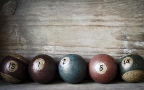 Picture background, balls, Billiards