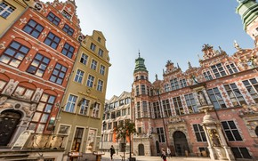 Picture building, home, Poland, architecture, Poland, Gdansk, Gdansk, Great Arsenal, A large Arsenal