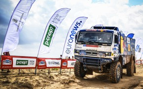 Picture Sand, Auto, Sport, Machine, Truck, Master, Russia, 2018, Kamaz, Rally, KAMAZ-master, Rally, KAMAZ, The roads, …