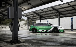 Wallpaper Audi A3, Schaeffler, electric supercar, 1200 HP, 4 e-Performance, charging station