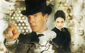 Picture celebrity, collage, Benedict Cumberbatch, Catrin Stewart