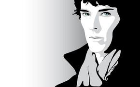 Picture look, Sherlock Holmes, Benedict Cumberbatch, Benedict Cumberbatch, Sherlock, Sherlock, Sherlock BBC, vector graphics, Sherlock Holmes, …