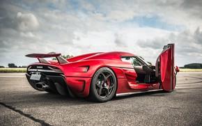 Picture Red, Koenigsegg, Supercar, Regera